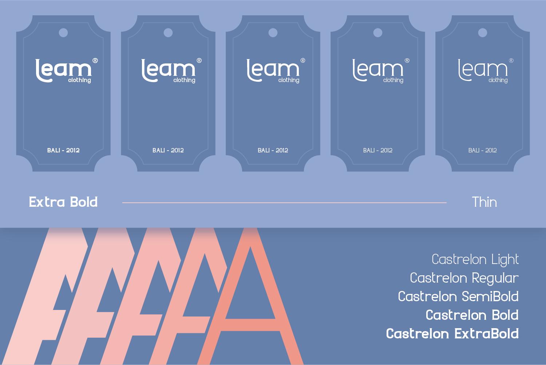 时尚圆润标题品牌Logo设计衬线英文字体素材 Castrelon Font插图5