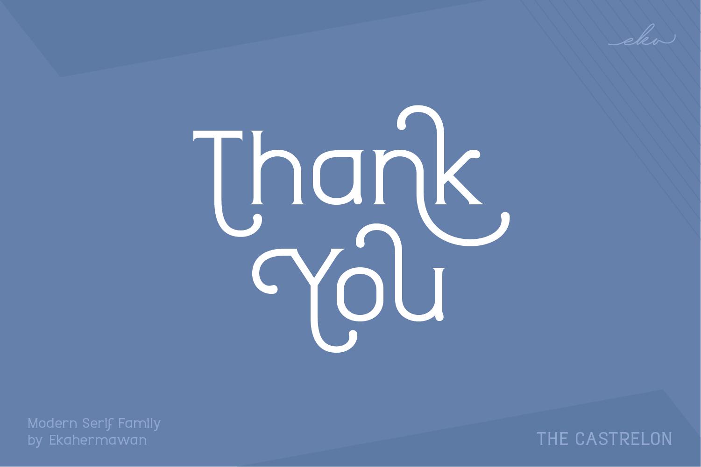 时尚圆润标题品牌Logo设计衬线英文字体素材 Castrelon Font插图13