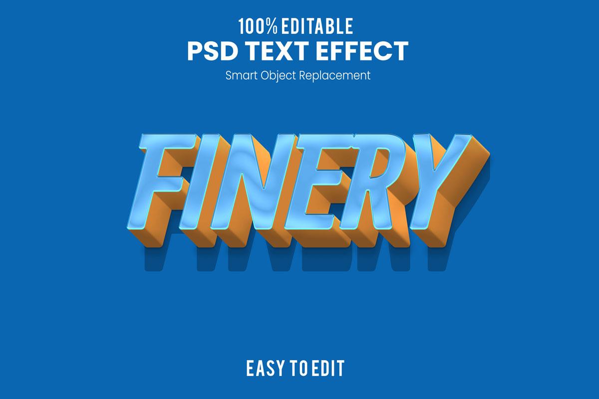 [单独购买] 80款炫彩3D立体海报标题Logo特效字体设计PS样机素材 30 Text Effect Bundle插图22