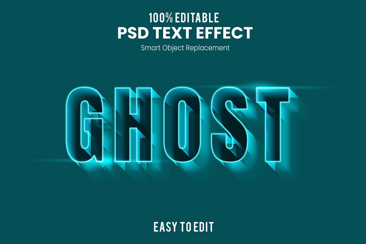 [单独购买] 80款炫彩3D立体海报标题Logo特效字体设计PS样机素材 30 Text Effect Bundle插图25