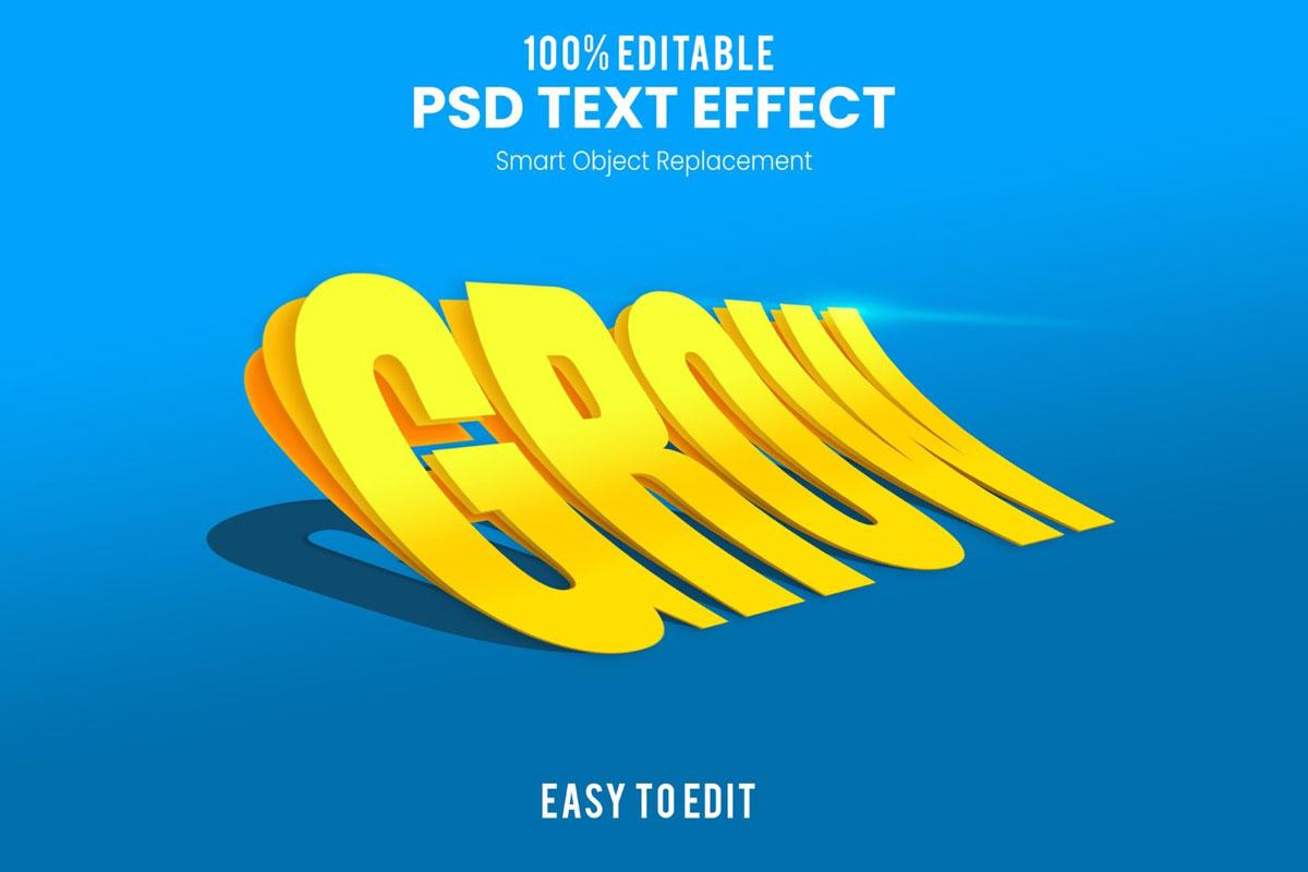 [单独购买] 80款炫彩3D立体海报标题Logo特效字体设计PS样机素材 30 Text Effect Bundle插图32