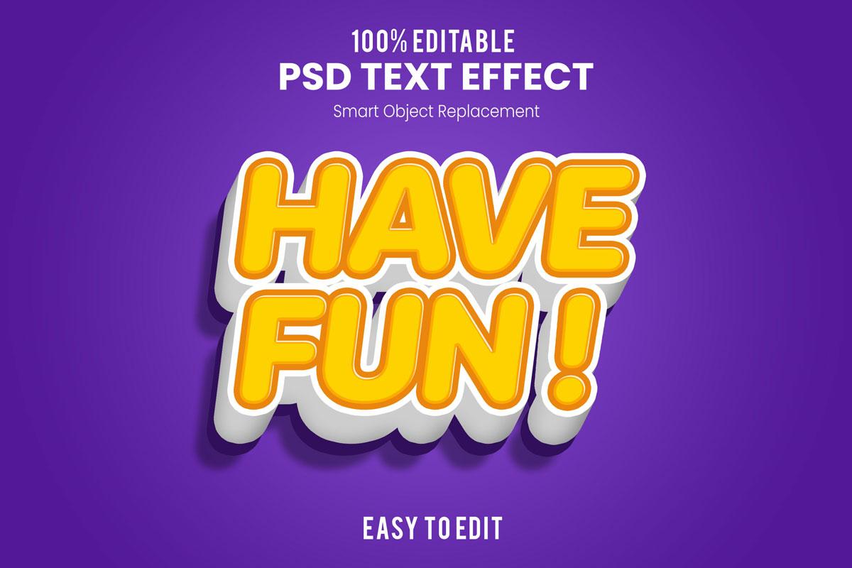 [单独购买] 80款炫彩3D立体海报标题Logo特效字体设计PS样机素材 30 Text Effect Bundle插图34