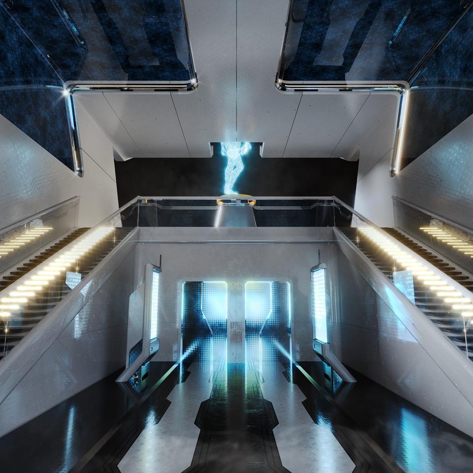 未来科幻城市高速单轨火车快轨车站轨道控制台建筑3D模型素材 Kitbash3D – Props: High Tech Streets插图6