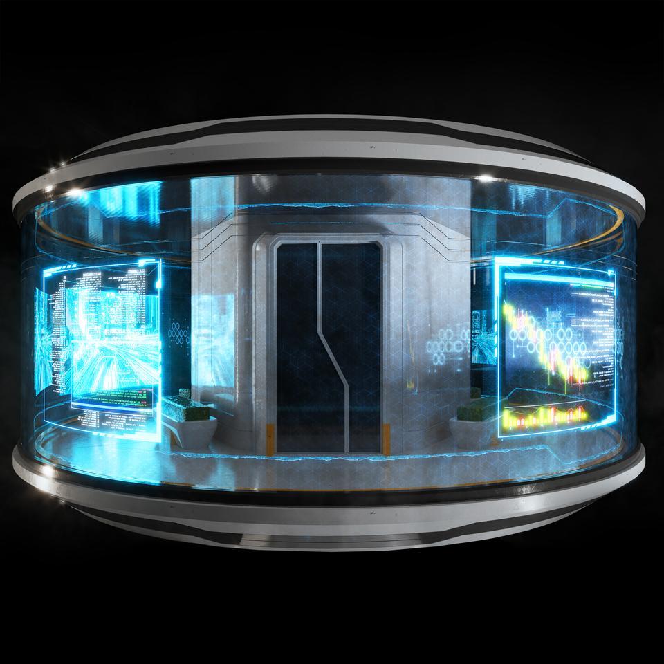 未来科幻城市高速单轨火车快轨车站轨道控制台建筑3D模型素材 Kitbash3D – Props: High Tech Streets插图8