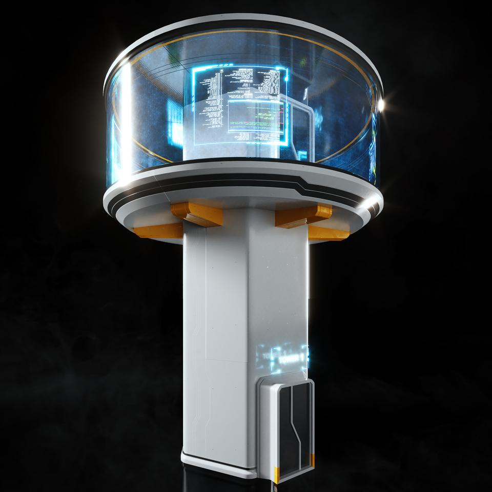 未来科幻城市高速单轨火车快轨车站轨道控制台建筑3D模型素材 Kitbash3D – Props: High Tech Streets插图10