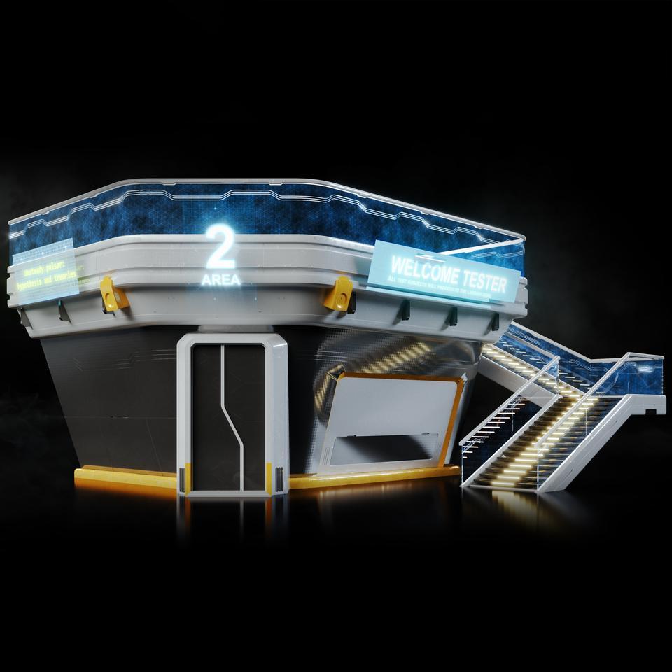 未来科幻城市高速单轨火车快轨车站轨道控制台建筑3D模型素材 Kitbash3D – Props: High Tech Streets插图12