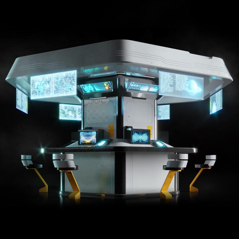 未来科幻城市高速单轨火车快轨车站轨道控制台建筑3D模型素材 Kitbash3D – Props: High Tech Streets插图15