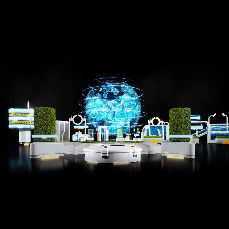未来科幻城市高速单轨火车快轨车站轨道控制台建筑3D模型素材 Kitbash3D – Props: High Tech Streets插图17