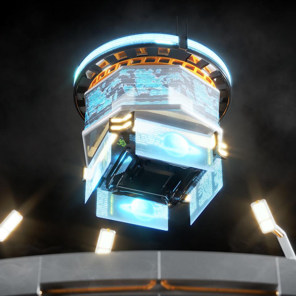 未来科幻城市高速单轨火车快轨车站轨道控制台建筑3D模型素材 Kitbash3D – Props: High Tech Streets插图19