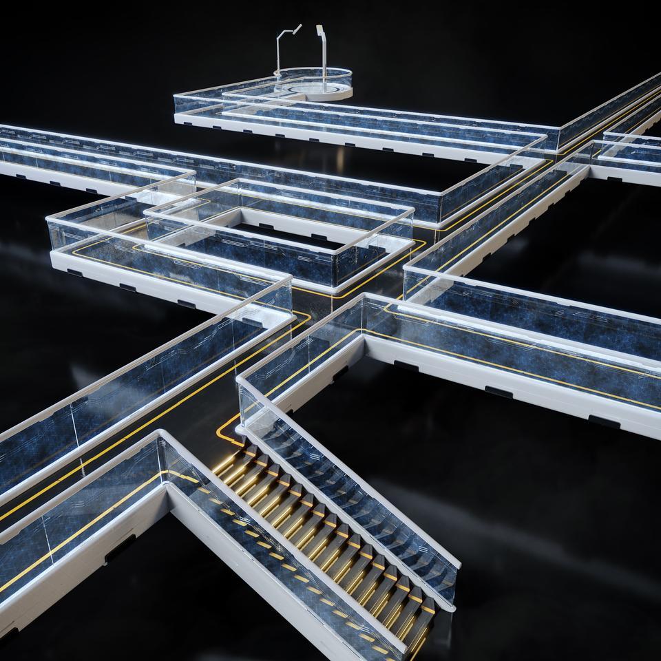 未来科幻城市高速单轨火车快轨车站轨道控制台建筑3D模型素材 Kitbash3D – Props: High Tech Streets插图22