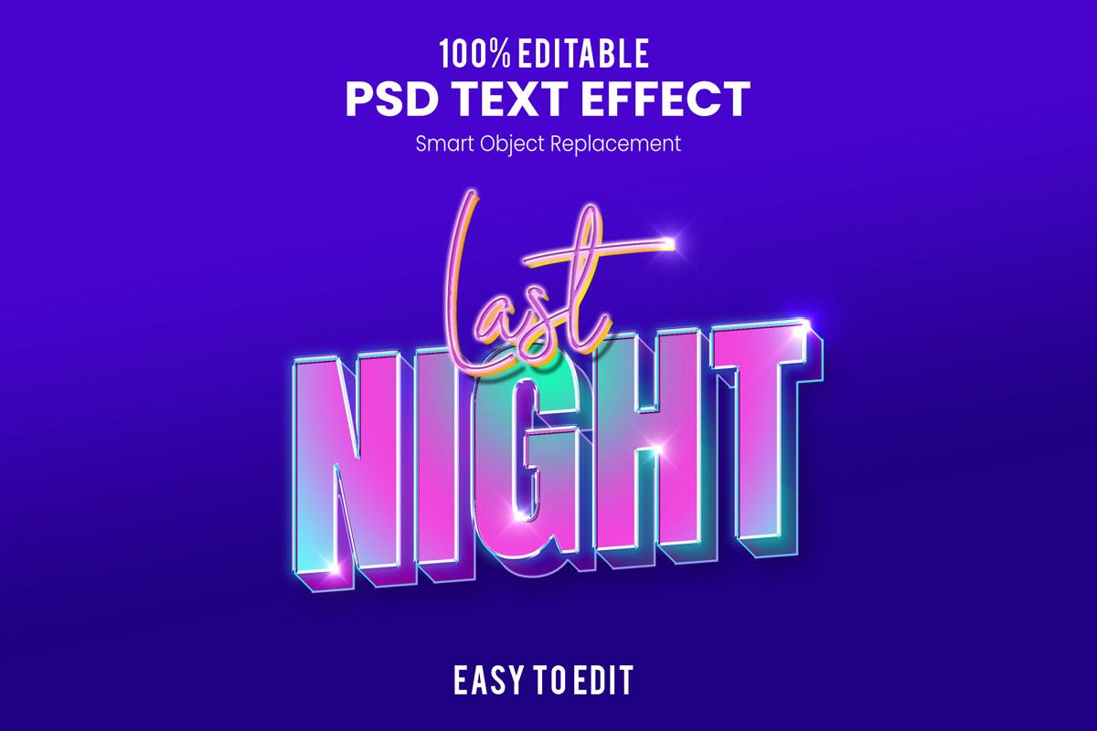 [单独购买] 80款炫彩3D立体海报标题Logo特效字体设计PS样机素材 30 Text Effect Bundle插图40