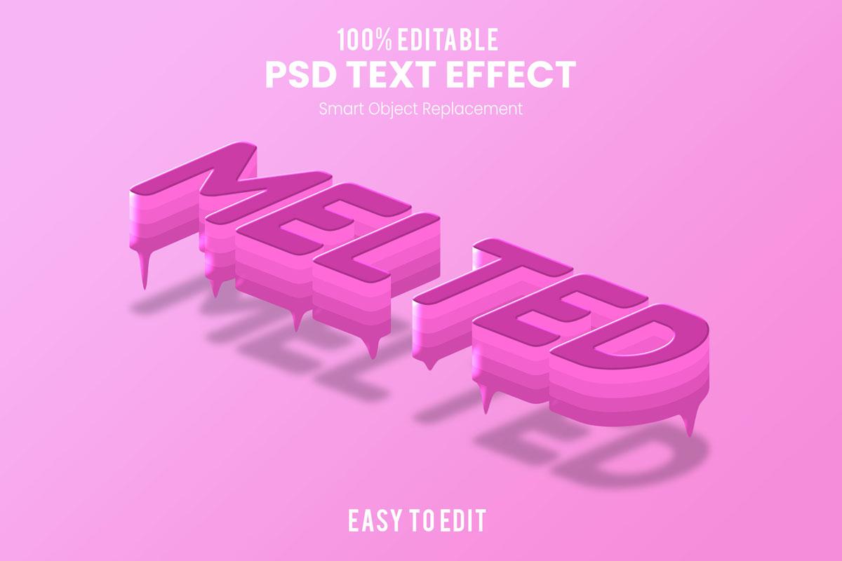 [单独购买] 80款炫彩3D立体海报标题Logo特效字体设计PS样机素材 30 Text Effect Bundle插图45