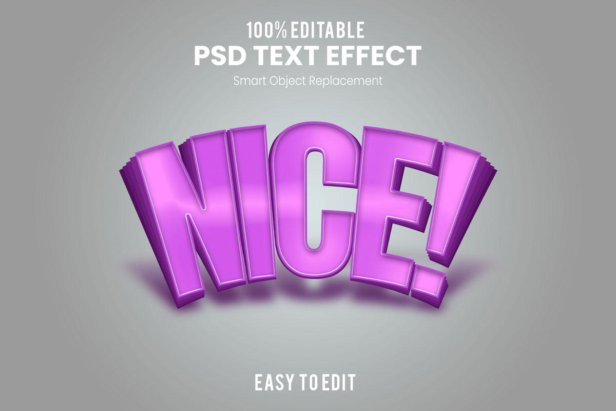 [单独购买] 80款炫彩3D立体海报标题Logo特效字体设计PS样机素材 30 Text Effect Bundle插图48