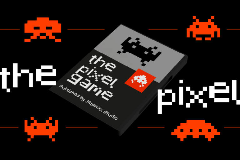 潮流复古像素几何杂志海报标题Logo英文字体设计素材 Pixelated Display Font插图2