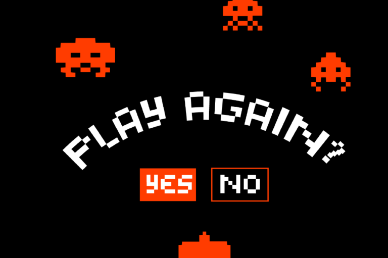 潮流复古像素几何杂志海报标题Logo英文字体设计素材 Pixelated Display Font插图3