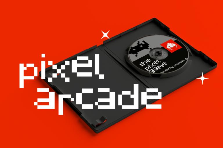 潮流复古像素几何杂志海报标题Logo英文字体设计素材 Pixelated Display Font插图5
