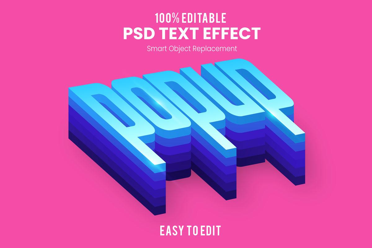 [单独购买] 80款炫彩3D立体海报标题Logo特效字体设计PS样机素材 30 Text Effect Bundle插图57