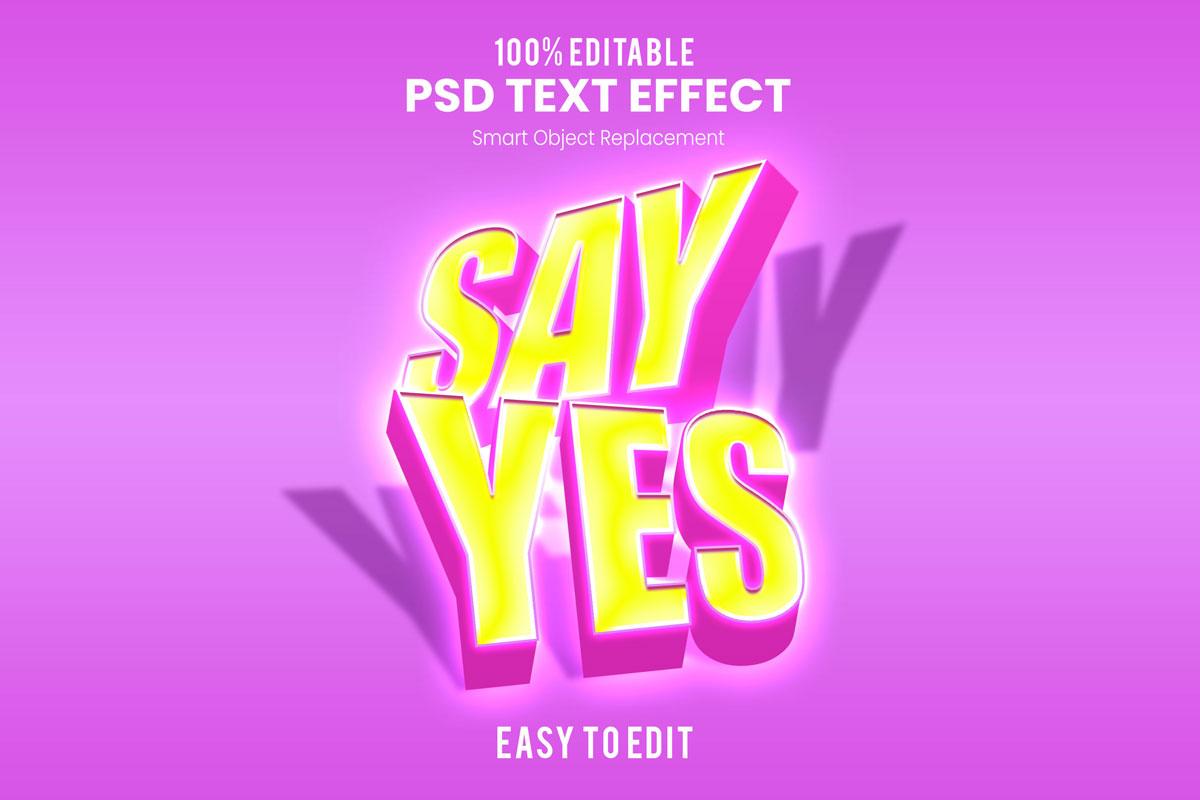 [单独购买] 80款炫彩3D立体海报标题Logo特效字体设计PS样机素材 30 Text Effect Bundle插图63