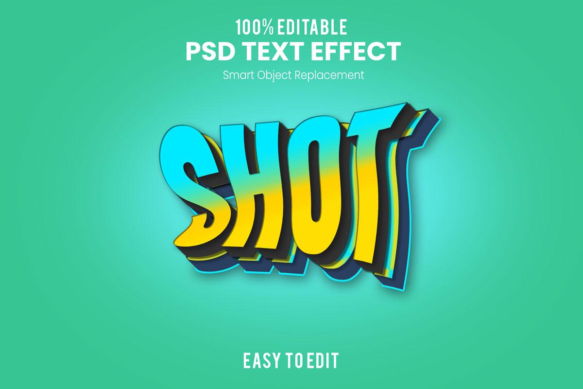[单独购买] 80款炫彩3D立体海报标题Logo特效字体设计PS样机素材 30 Text Effect Bundle插图65