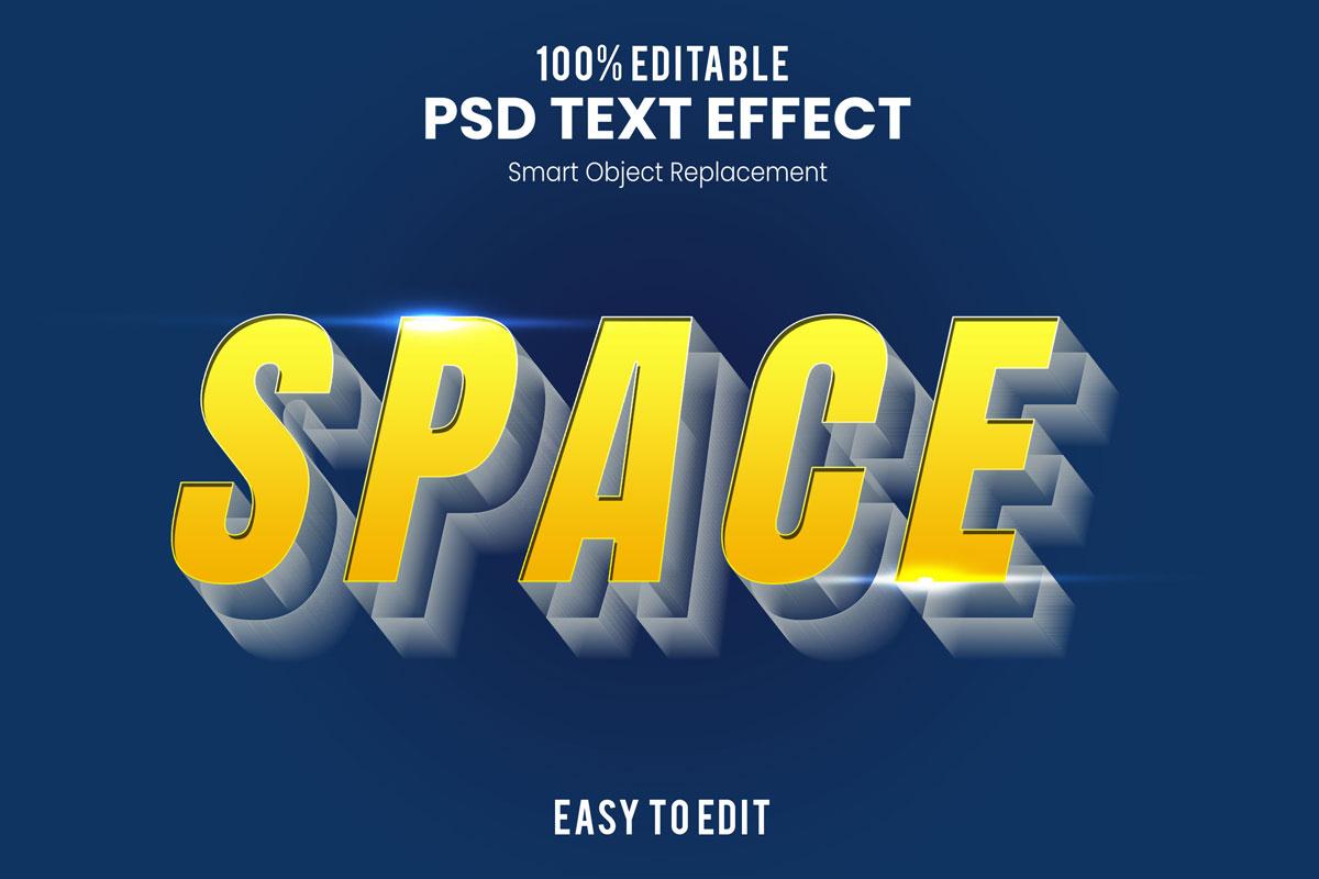 [单独购买] 80款炫彩3D立体海报标题Logo特效字体设计PS样机素材 30 Text Effect Bundle插图70