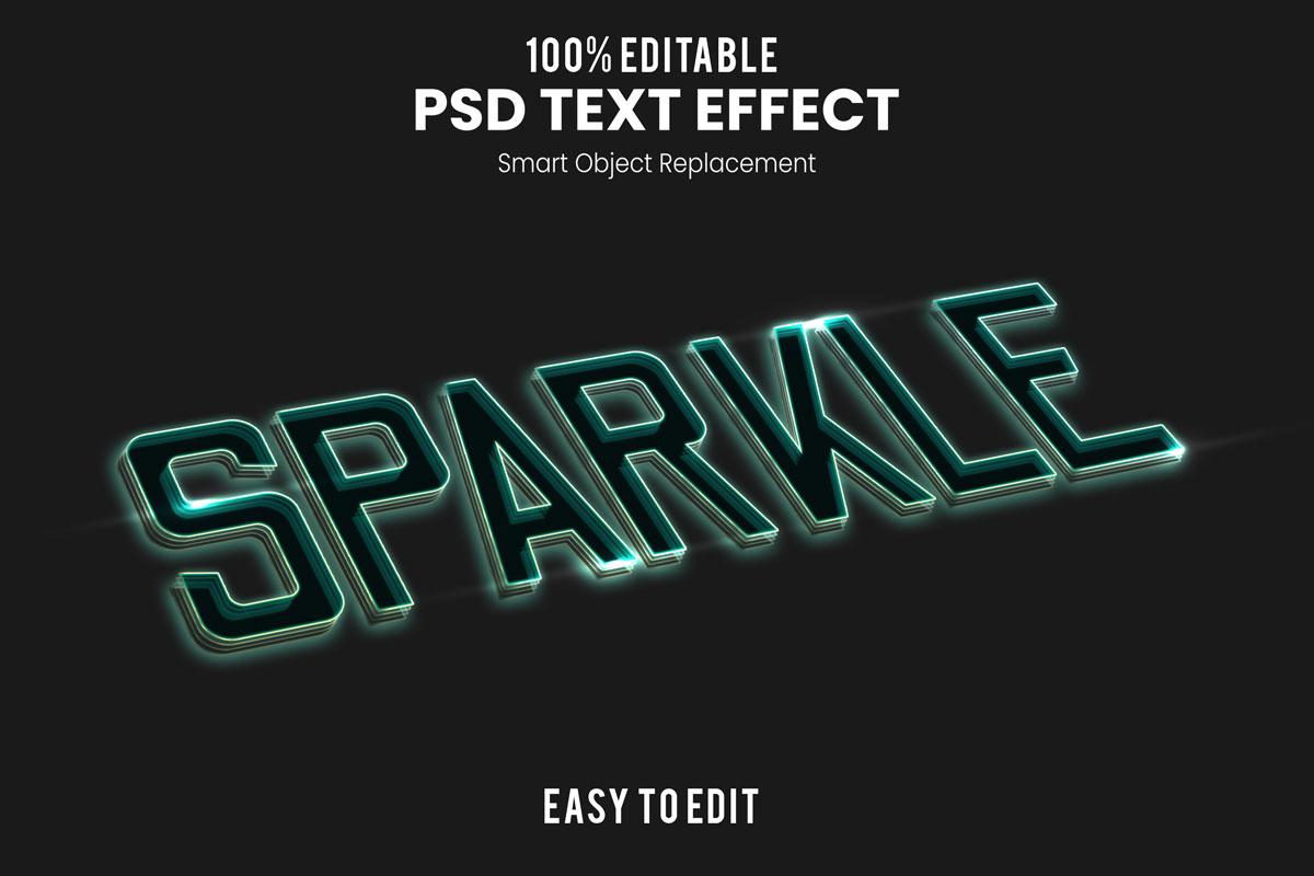 [单独购买] 80款炫彩3D立体海报标题Logo特效字体设计PS样机素材 30 Text Effect Bundle插图71
