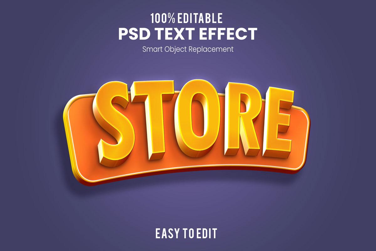 [单独购买] 80款炫彩3D立体海报标题Logo特效字体设计PS样机素材 30 Text Effect Bundle插图72