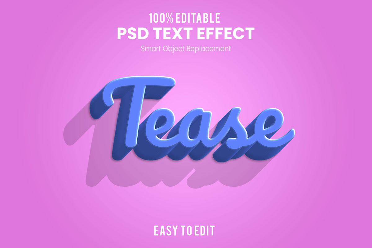 [单独购买] 80款炫彩3D立体海报标题Logo特效字体设计PS样机素材 30 Text Effect Bundle插图75