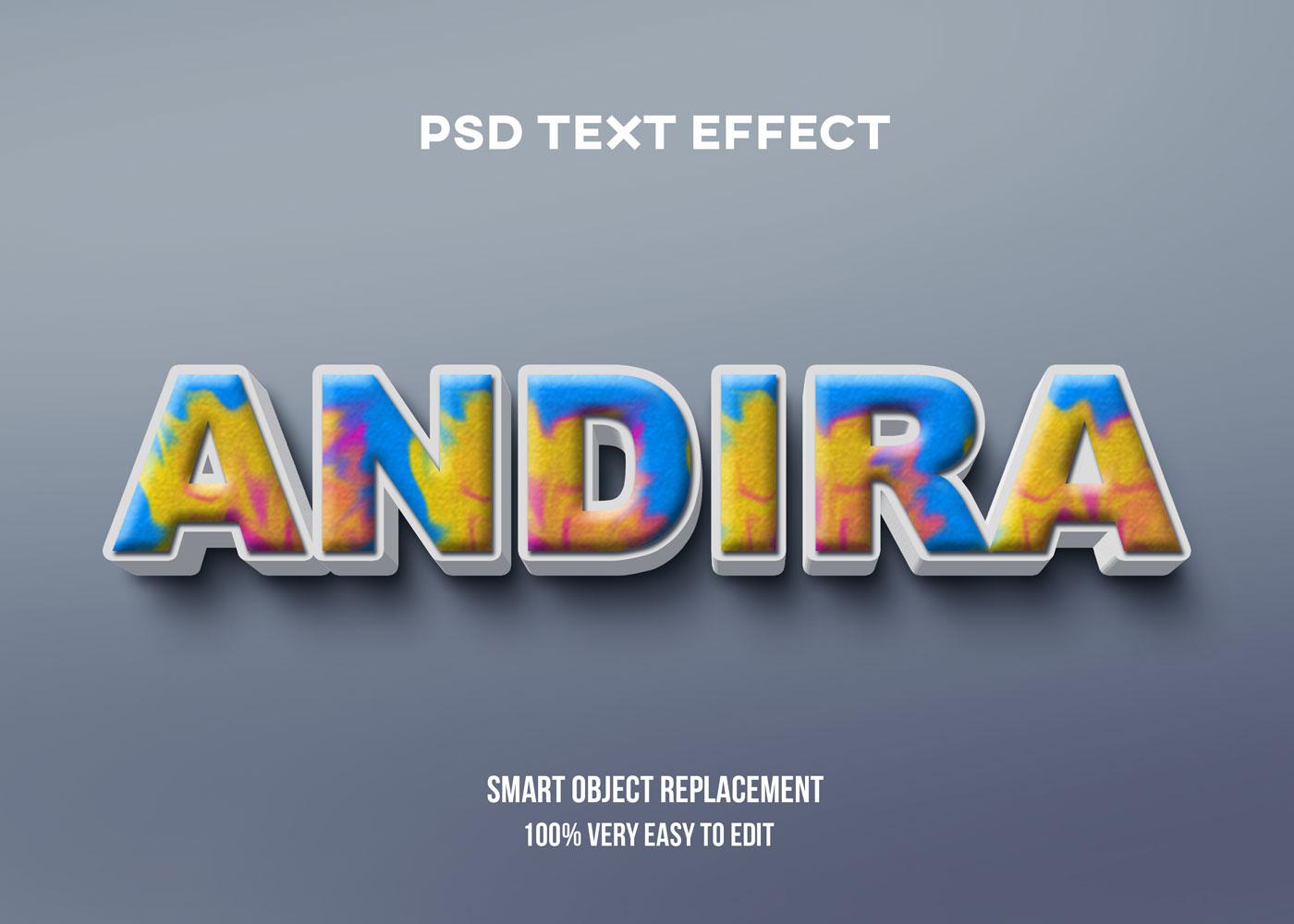 [单独购买] 80款炫彩3D立体海报标题Logo特效字体设计PS样机素材 30 Text Effect Bundle插图1
