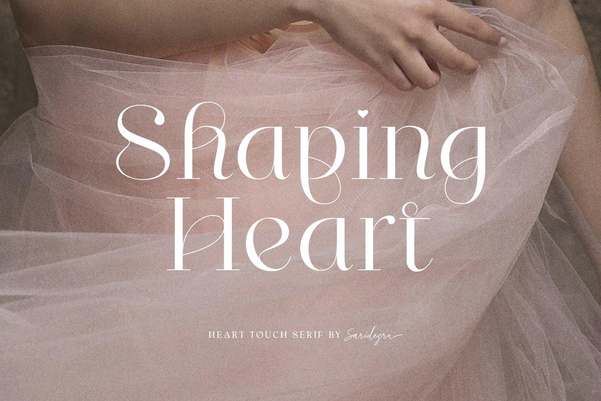 [单独购买] 优雅轻奢女性时尚品牌Logo海报杂志英文字体设计素材 Shaping Heart – Lovely Serif插图9