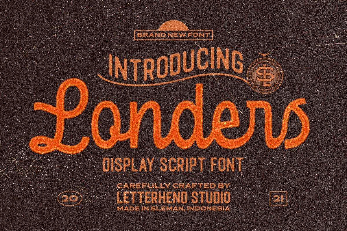 复古优雅杂志标题徽标Logo手写英文字体素材 Londers Font插图