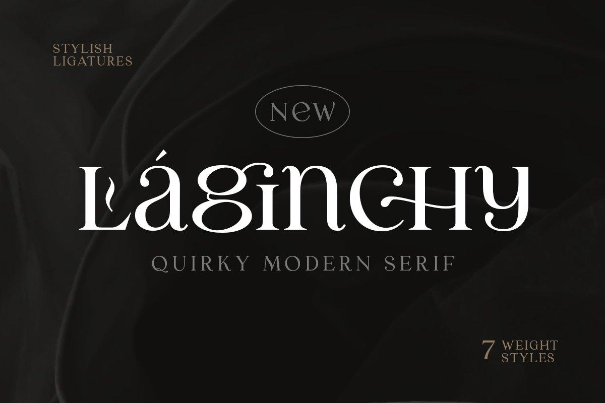 优雅古典轻奢时尚品牌Logo海报标题装饰英文字体素材 Laginchy – Quirky Serif插图