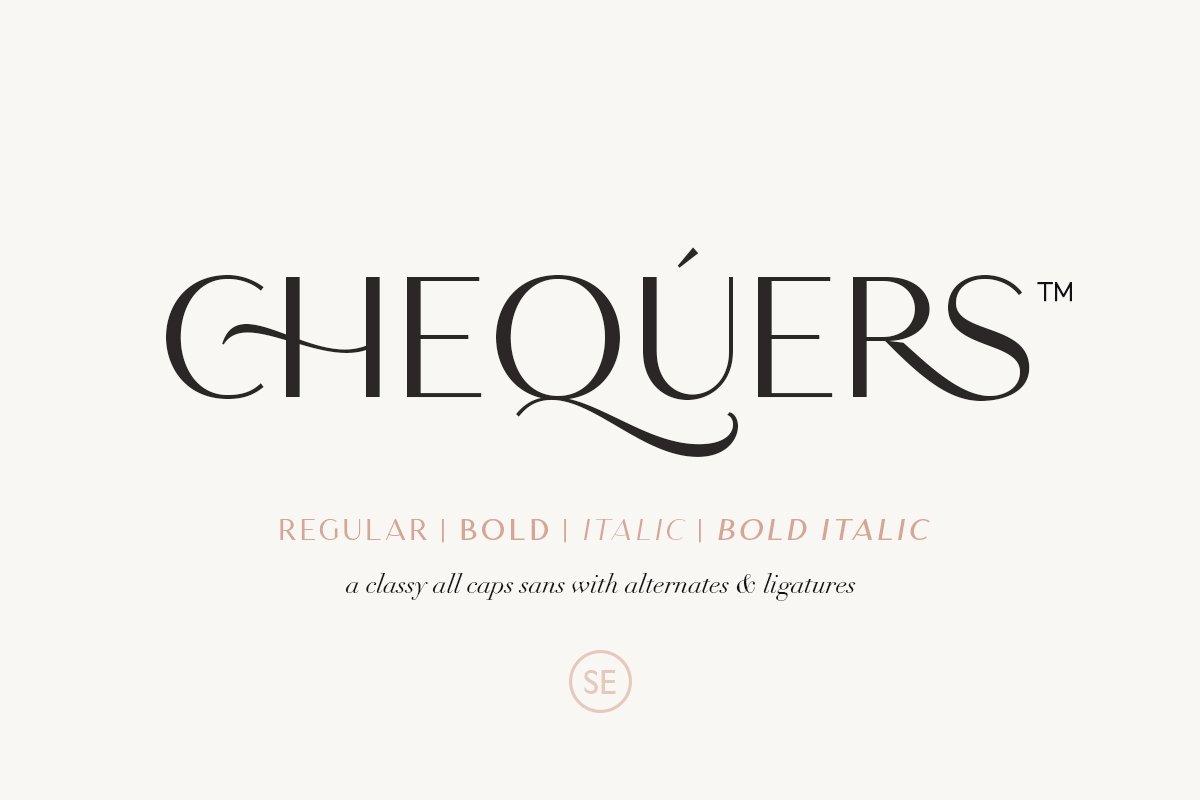 优雅轻奢时尚Logo杂志海报标题无衬线英文字体素材 Chequers – Modern Sans Serif插图