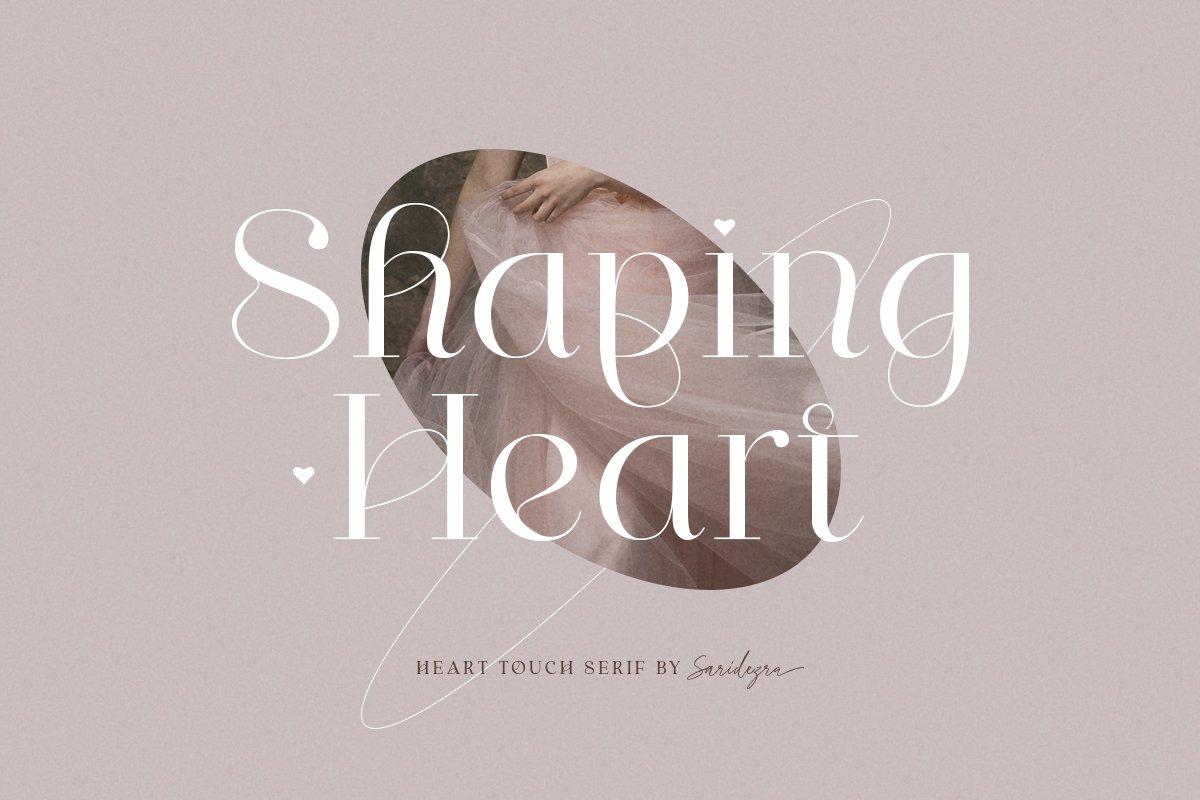 [单独购买] 优雅轻奢女性时尚品牌Logo海报杂志英文字体设计素材 Shaping Heart – Lovely Serif插图