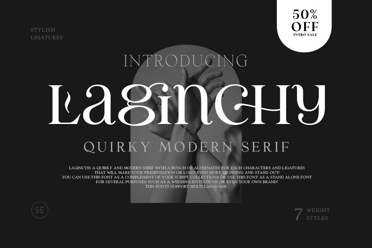 优雅古典轻奢时尚品牌Logo海报标题装饰英文字体素材 Laginchy – Quirky Serif插图1