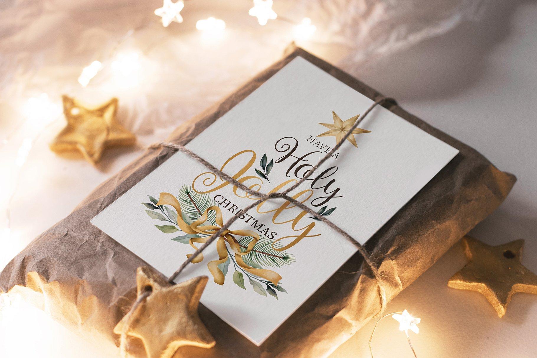 31款圣诞节主题礼品卡标签办公用品样机合集 Christmas Stationery Mockup Set插图4