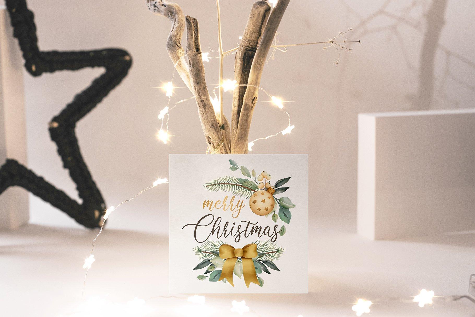 31款圣诞节主题礼品卡标签办公用品样机合集 Christmas Stationery Mockup Set插图6