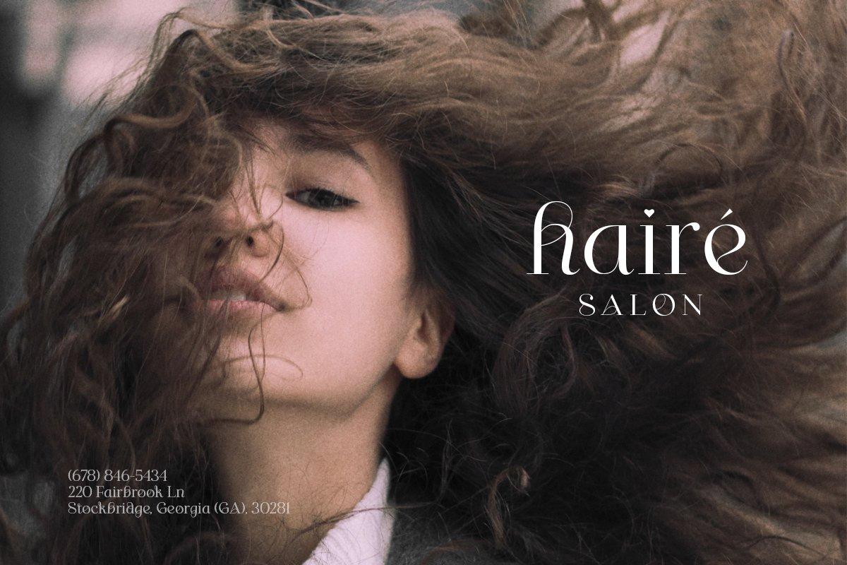 [单独购买] 优雅轻奢女性时尚品牌Logo海报杂志英文字体设计素材 Shaping Heart – Lovely Serif插图2