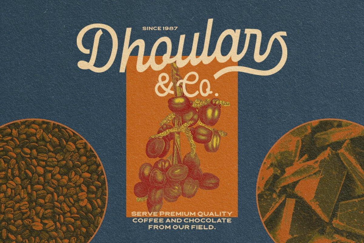 复古优雅杂志标题徽标Logo手写英文字体素材 Londers Font插图2