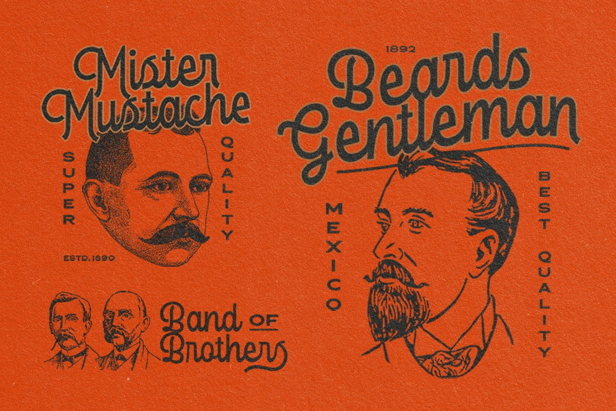 复古优雅杂志标题徽标Logo手写英文字体素材 Londers Font插图3