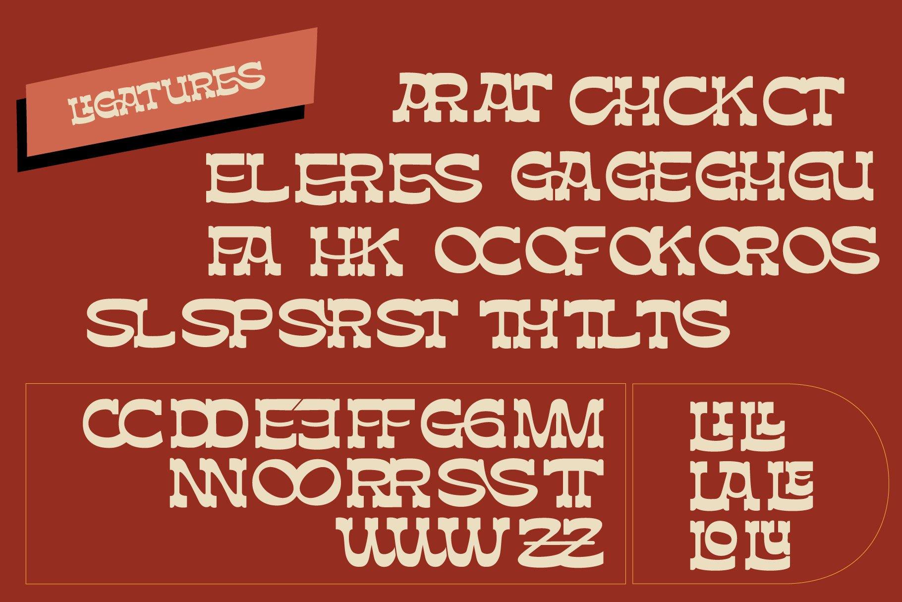 [单独购买] 潮流复古酸性逆反差海报标题Logo设计衬线英文字体素材 Assox Typeface插图12