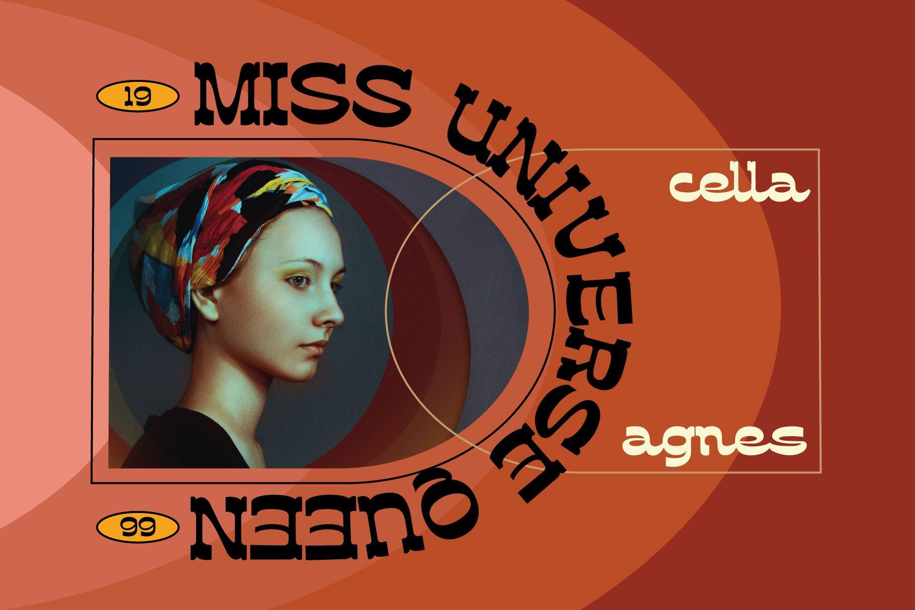 [单独购买] 潮流复古酸性逆反差海报标题Logo设计衬线英文字体素材 Assox Typeface插图3