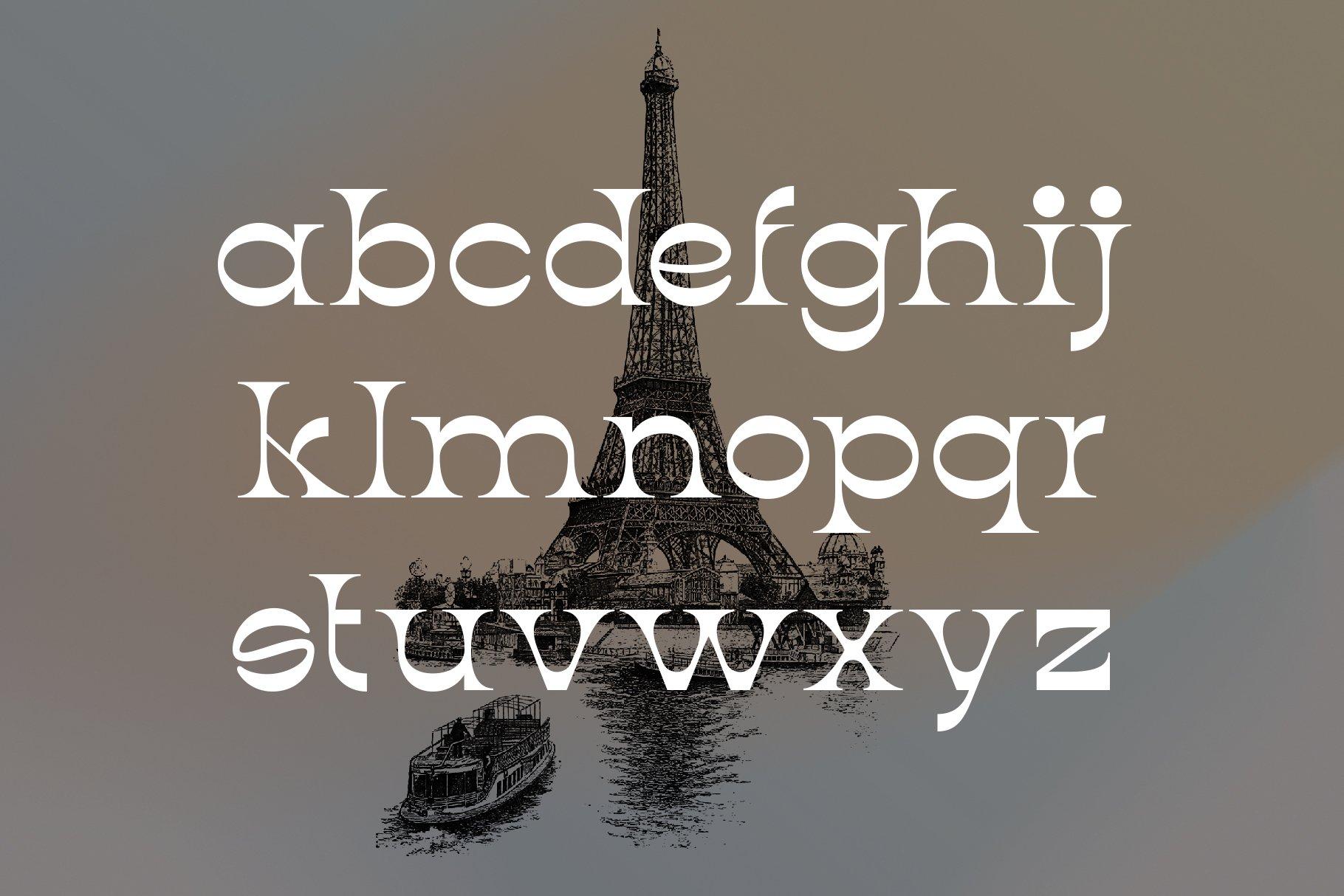 潮流复古酸性逆反差标题徽标Logo设计衬线英文字体素材 Aurora Font插图4