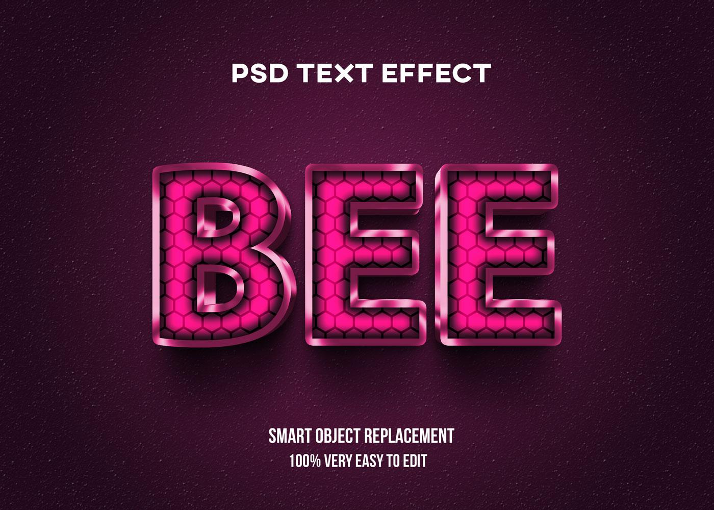 [单独购买] 80款炫彩3D立体海报标题Logo特效字体设计PS样机素材 30 Text Effect Bundle插图6