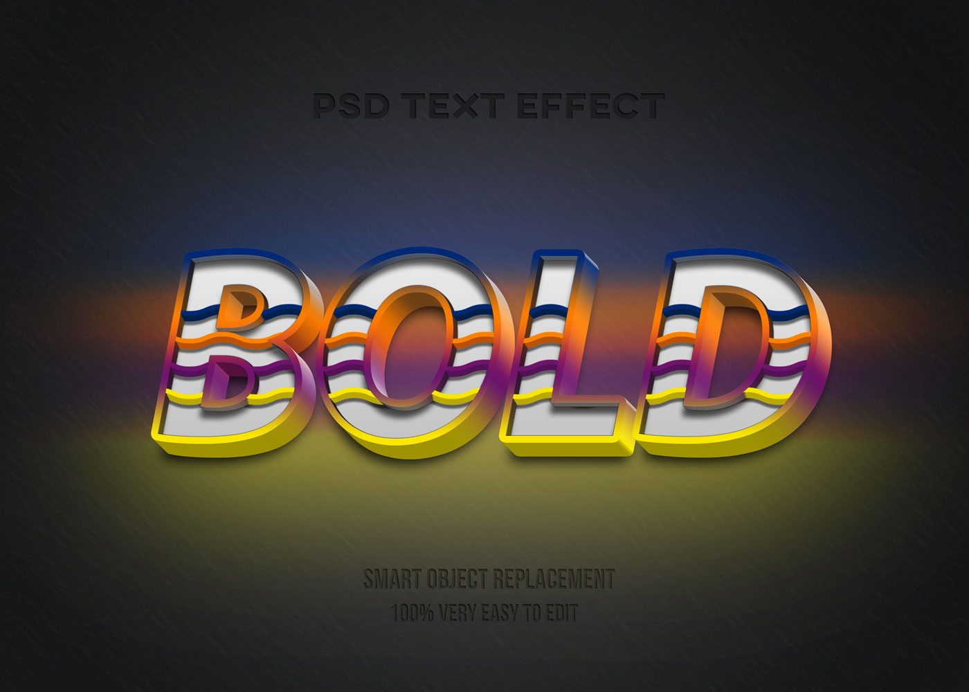 [单独购买] 80款炫彩3D立体海报标题Logo特效字体设计PS样机素材 30 Text Effect Bundle插图10