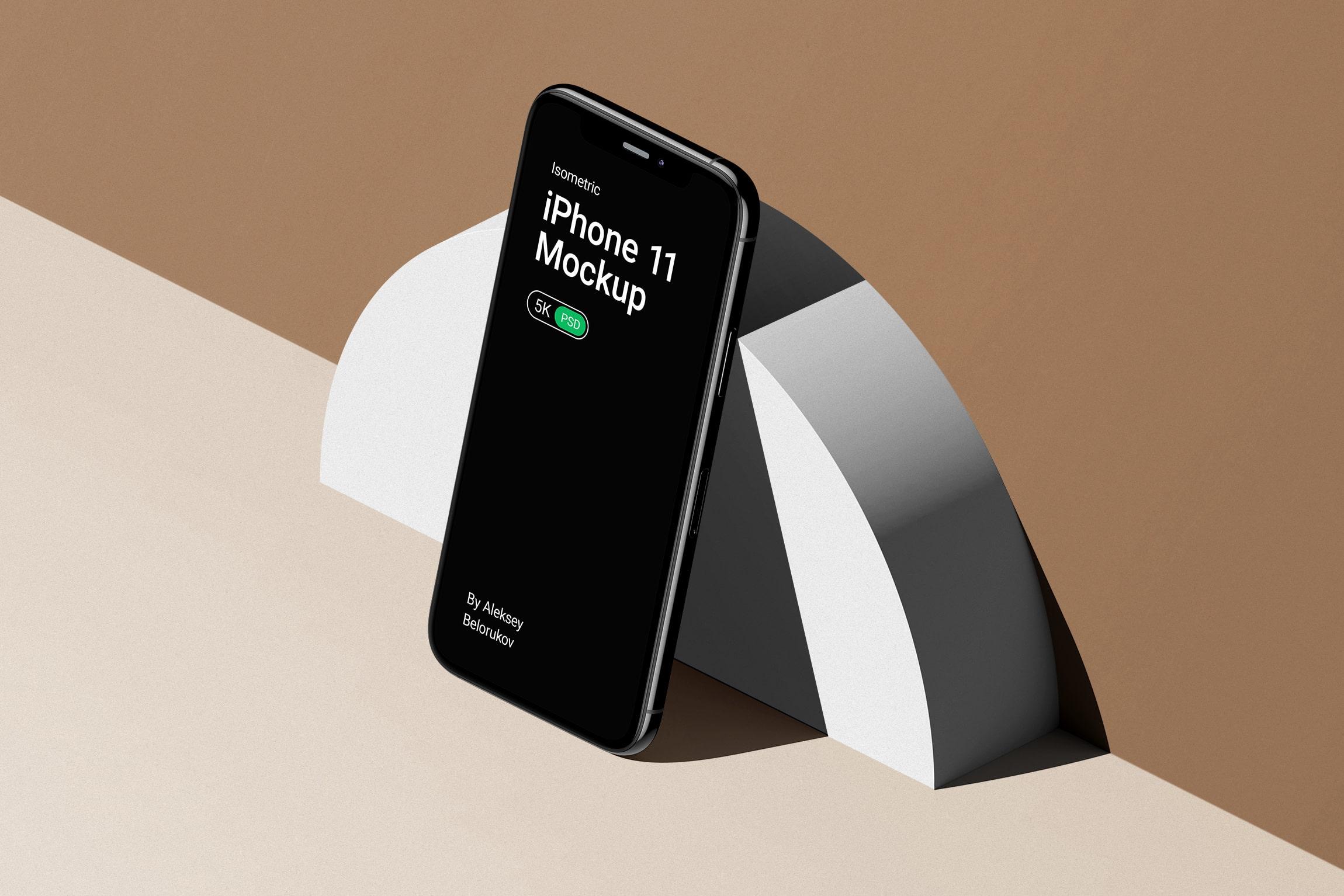 [单独购买] 16款时尚等距APP界面设计苹果设备屏幕演示场景样机模板套装 Device Pack Mockups – Isometric插图7