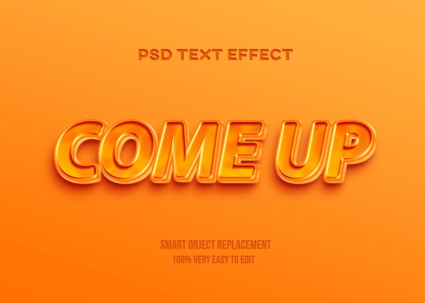 [单独购买] 80款炫彩3D立体海报标题Logo特效字体设计PS样机素材 30 Text Effect Bundle插图17