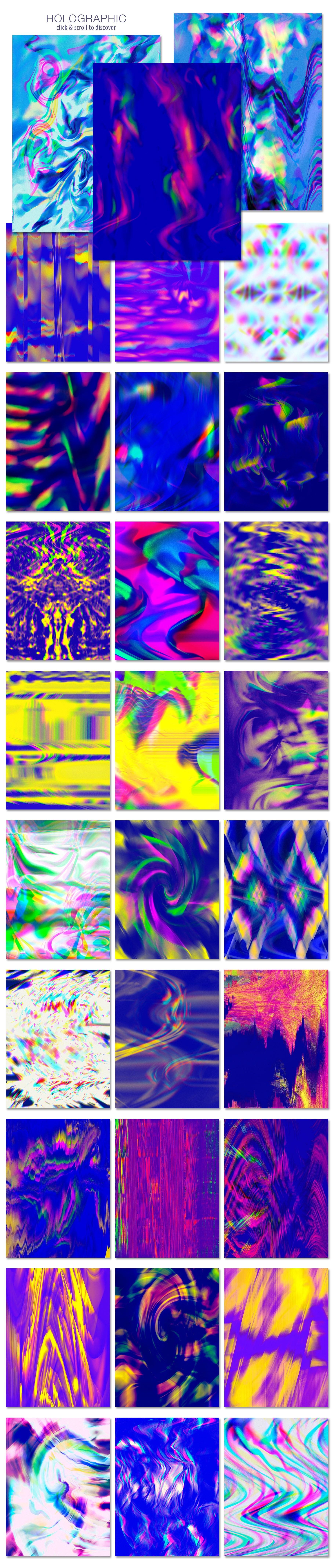 [单独购买] 90款潮流抽象炫彩故障扭曲噪点颗粒纹理海报设计背景图片素材 Experimental Abstract Textures插图10