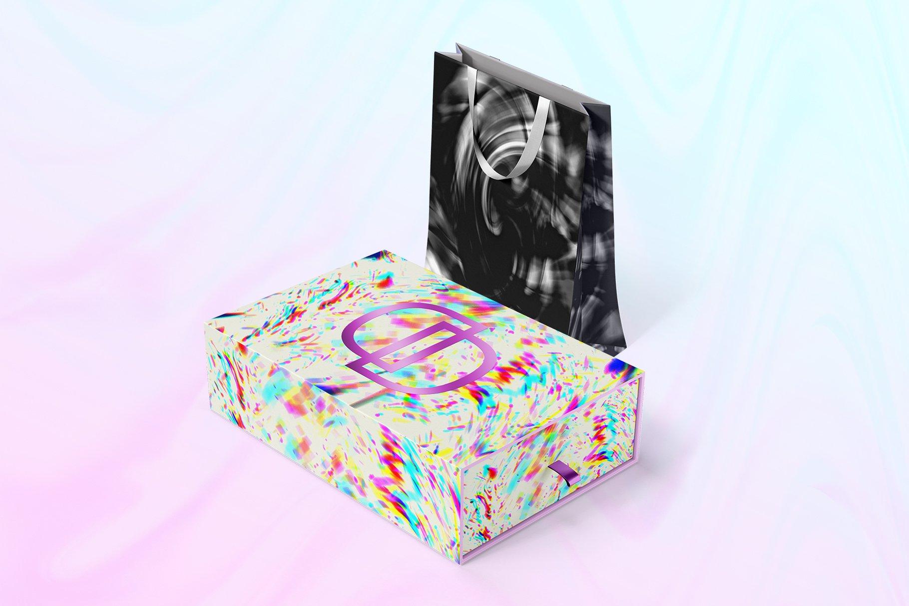 [单独购买] 90款潮流抽象炫彩故障扭曲噪点颗粒纹理海报设计背景图片素材 Experimental Abstract Textures插图19