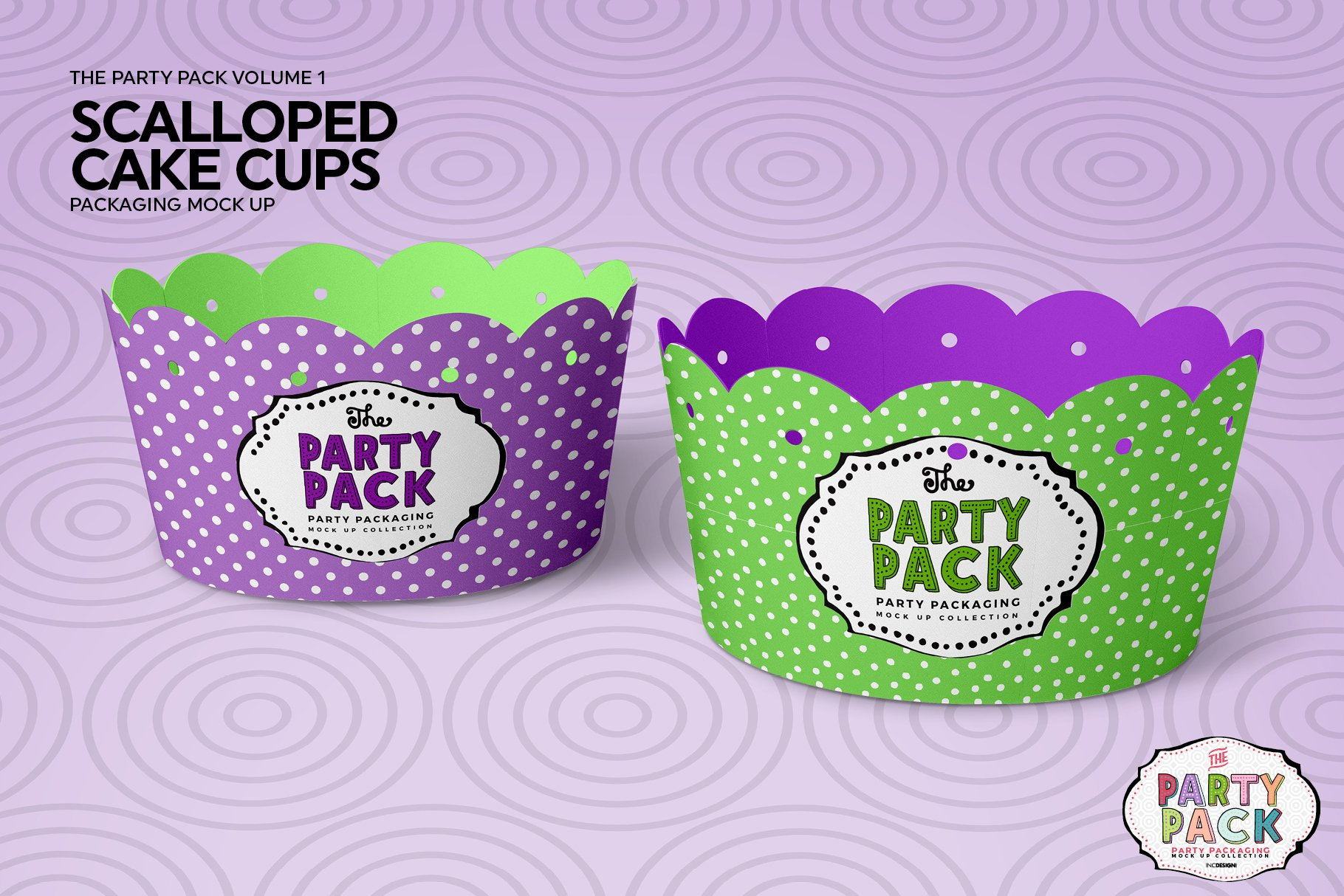纸杯蛋糕杯包装设计PS贴图样机 Cupcake Cups Packaging Mockup插图4