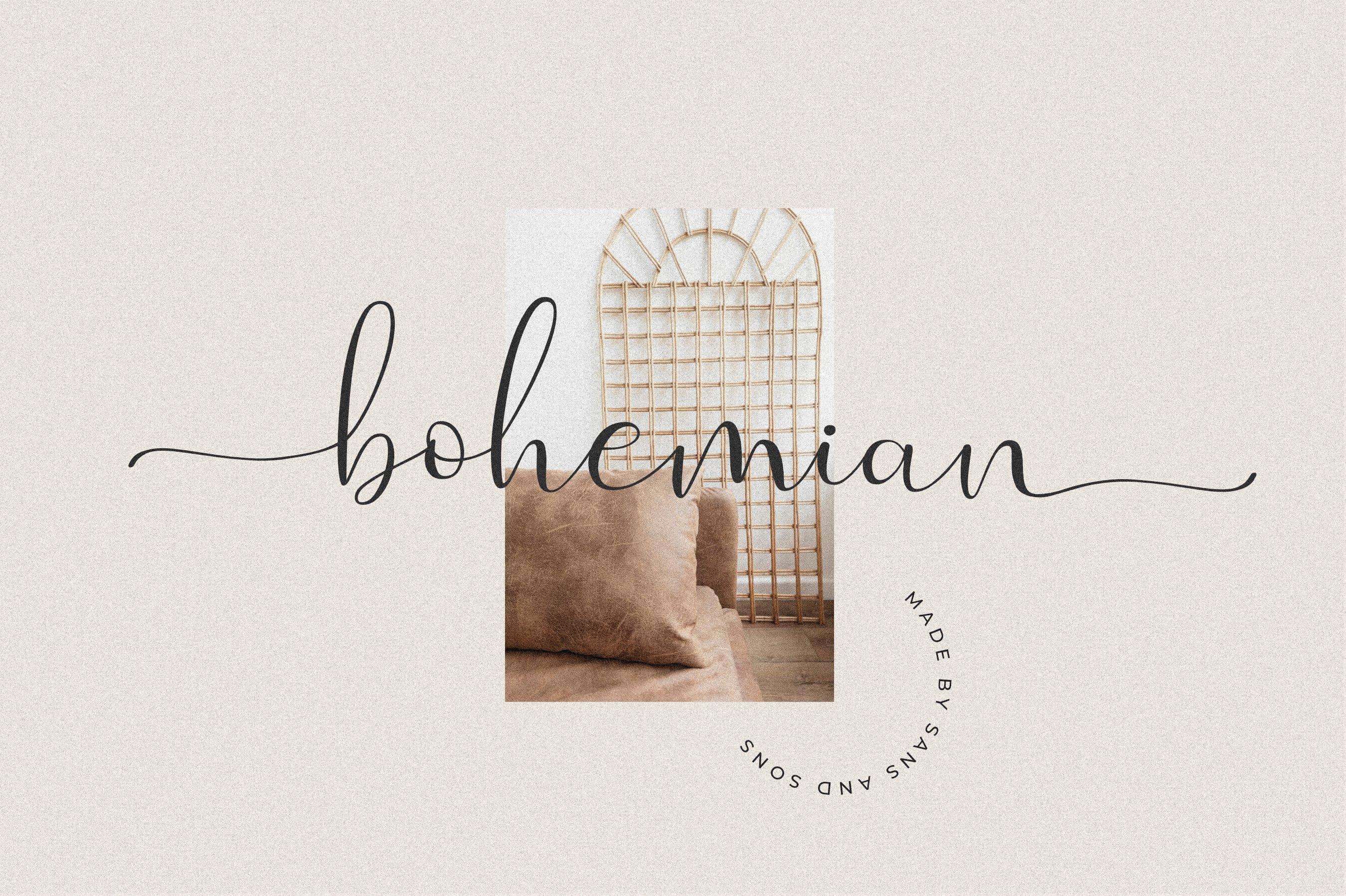 现代优雅品牌徽标Logo手写英文字体设计素材 Evangelina Font插图2